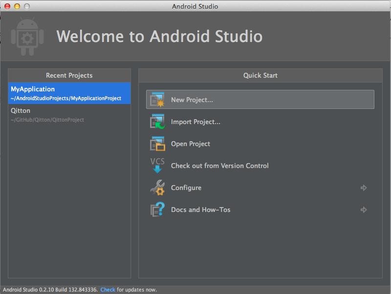 トレンドを追いながら作ってみるAndroidアプリ開発/プロジェクト作成編