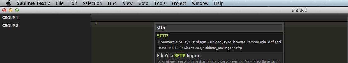 Sublime Text 2のSFTPのインストールその2
