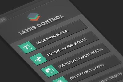 Photoshopレイヤーを一括整理するプラグインLayers Controlが便利