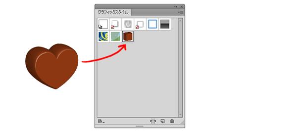 グラフィックスタイルパネルにドラッグ&ドロップ