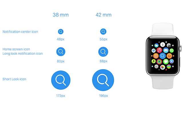 Template for Apple Watch Icons