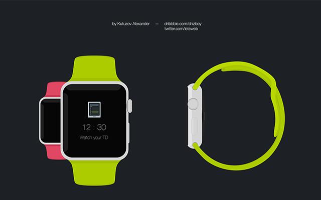 Apple Watch-Free Psd Flat Mockup