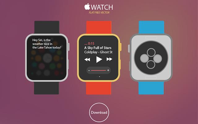 New Apple WATCH Free Vector Download