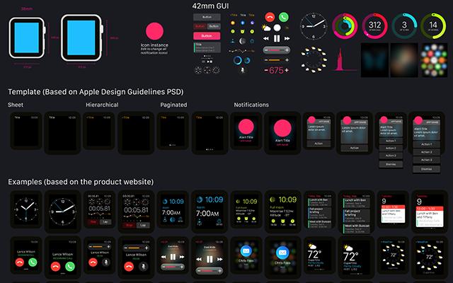 Apple Watch GUI for illustrator