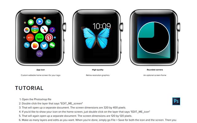 Apple Watch Screen PSD