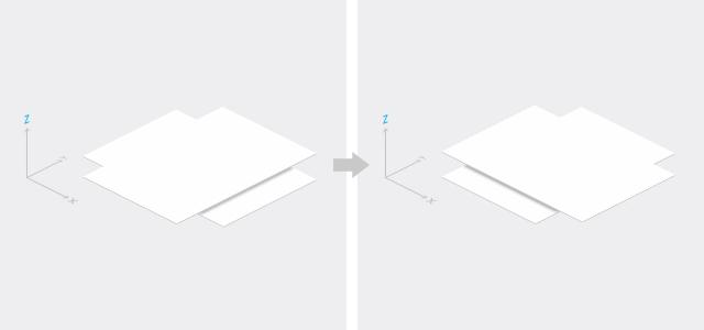 マテリアルデザインの概念に反する動き