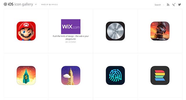 iPhoneのアイコンデザインiOS Icon Gallery