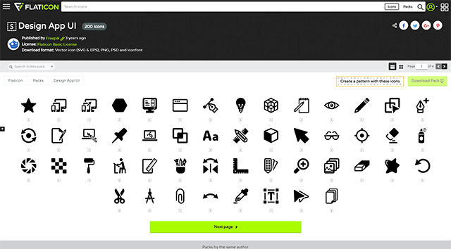 Design App UI 200 icons