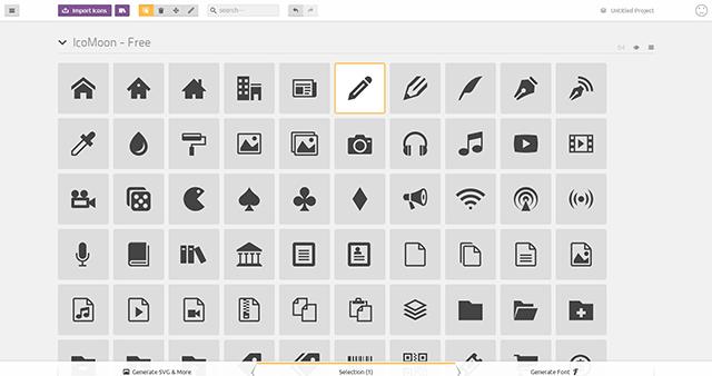 Webフォント、アイコンフォントを作成できるIcoMoon App