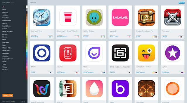 iPhoneアプリアイコンデザイン/Iconsfeed