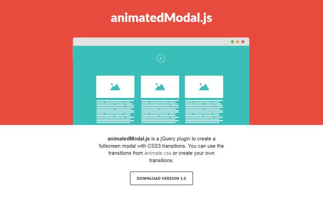 ウィンドウ全体にモーダルウィンドウを表示するanimatedModal.js