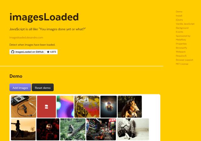 画像を読み込んでから実行できるimagesLoaded