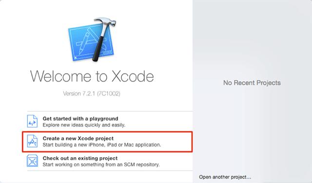 Xcodeでプロジェクトを作成