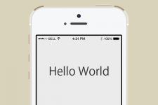 【iPhoneアプリ開発入門】Xcode操作だけでHello, Worldを表示