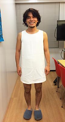 Perfumeのコスチュームを着た社長