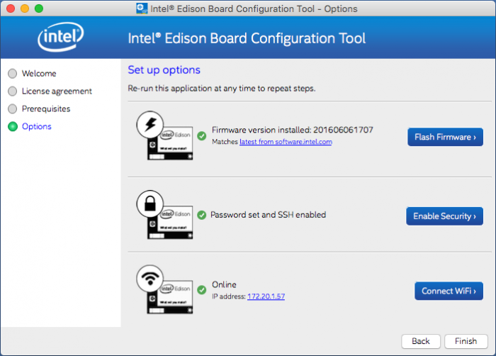 Intel® Edison Board Configuration Tool