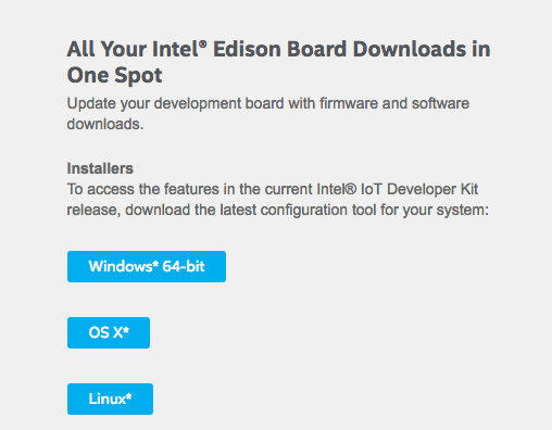 Intel® Edison Module Downloads