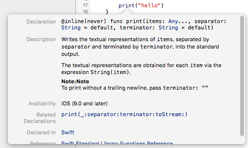 Swiftの文書化コメント