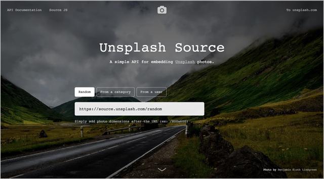 無料画像が使えるUnsplash Source