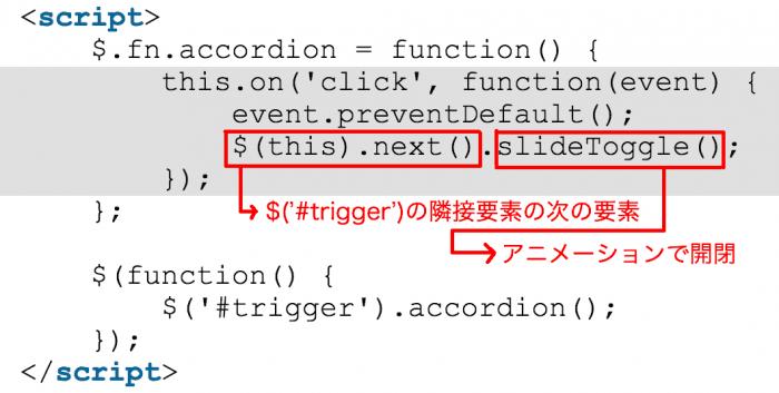 クリックされた要素の隣の要素を取得