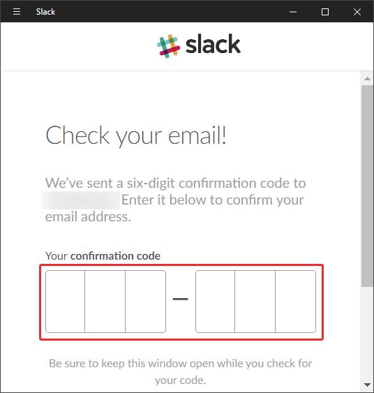 slackに認証コードを入力
