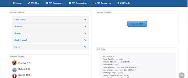 CSS3 Button Generator - CSS Portal