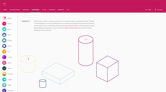 マテリアルデザインテンプレート Material Design Lite