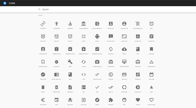 マテリアルアイコン/Material Icons