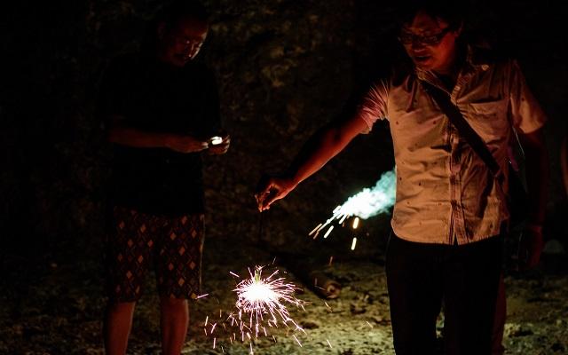 石垣島で花火