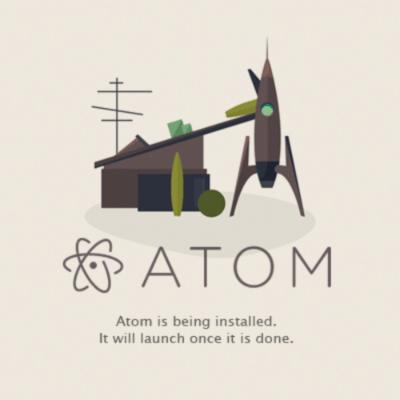 Atomインストール