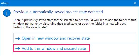 Atomのファイルの開き方を選択