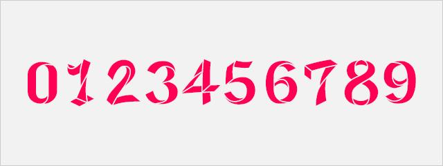 ユニークな数字フォント:Origami