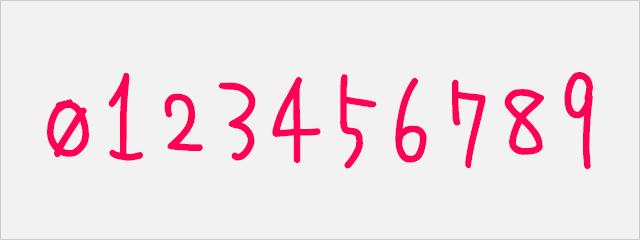 数字フォント:ゆな字