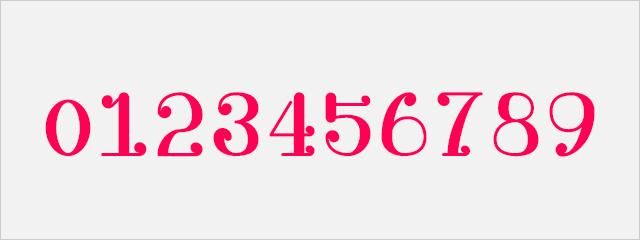 可愛い数字フォント:うたミンフォント 小2