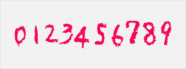 手書き数字フォント:殴り書きクレヨン