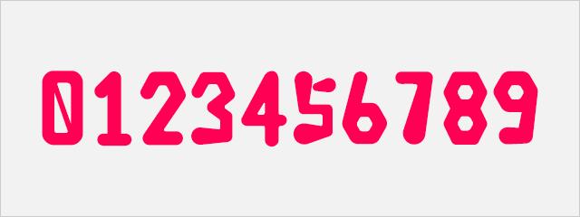 可愛い数字フォント:みつバッチフォント