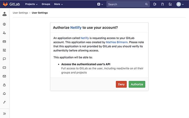 NetlifyのAuthorization