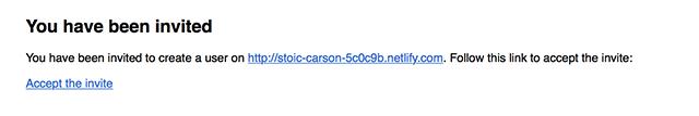 NetlifyからCMSの招待メール