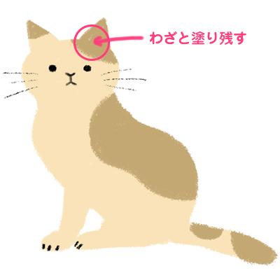 Photoshopで猫のイラストを描く