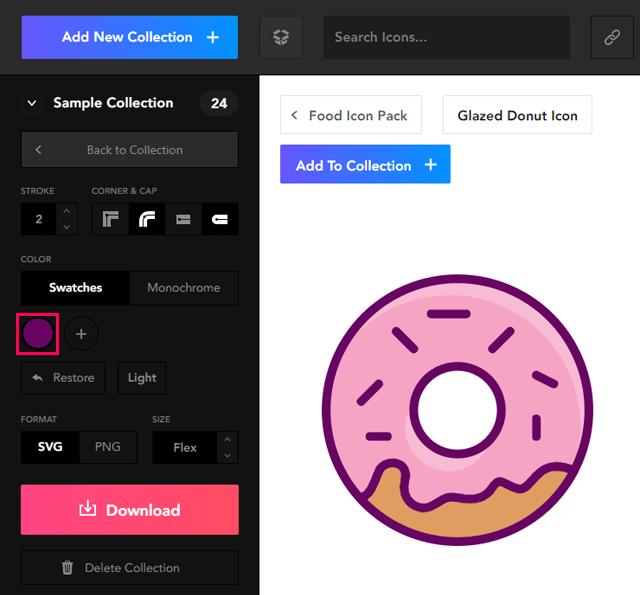 アイコンの線の色を変更Orion Icon Library