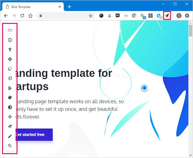 Chrome用デベロッパーツールVisBug