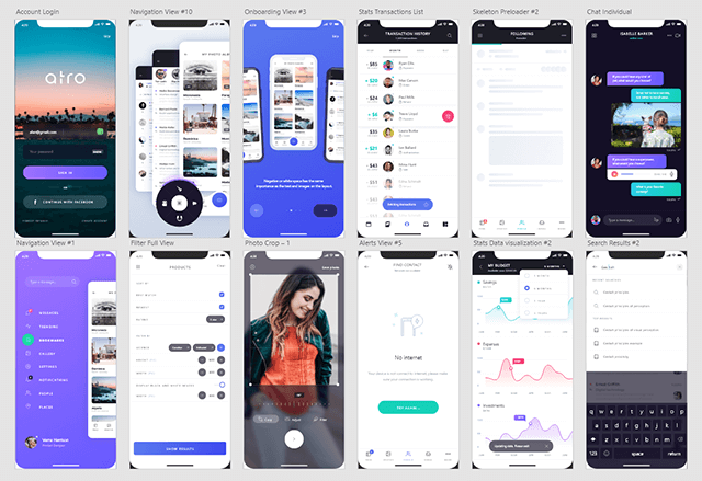 Adobe XD UIKit / Atro Mobile UI Kit (Freebie)