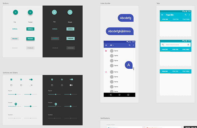 Android用のUI Kit