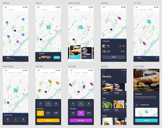 Navigo Transportation UI Kit FREE for Adobe XD