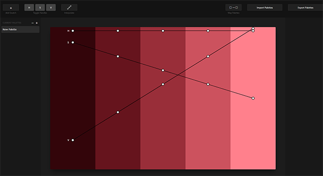 カラーパレットの作成・分析・編集ができる Palettte App