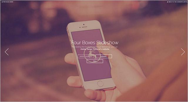 CSSスライドショー・Four Boxes Slideshow