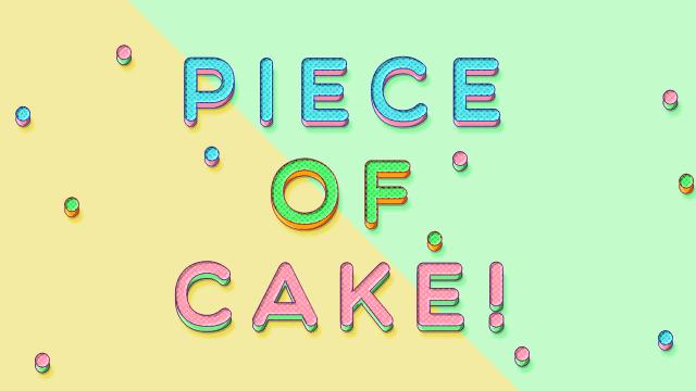 お菓子をイメージしたPhotoshop加工文字
