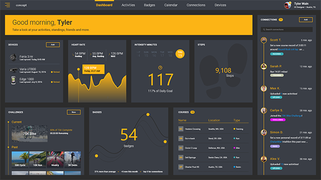 Free Adobe Xd Dashboard | Fitness