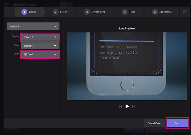 Screenspace Promoでデバイスを選択
