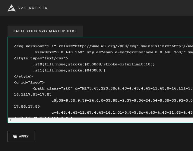 SVGコードの貼り付け